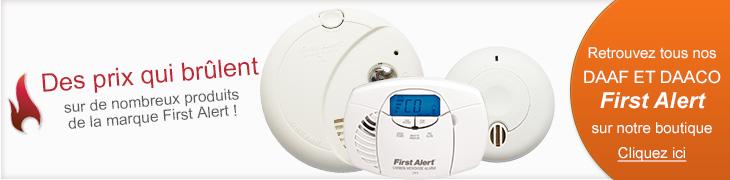 Détecteurs de fumée First Alert, détecteurs de monoxyde de carbone First Alert à petits prix sur detecteur-de-fumee.net